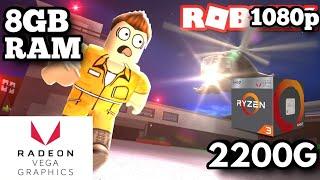 Nouveaux graphiques Roblox Jailbreak - Ryzen 3 2200G Vega 8 - Gameplay