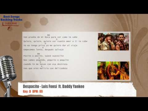 Despacito - Luis Fonsi  ft. Daddy Yankee Vocal Backing Track with chords and lyrics