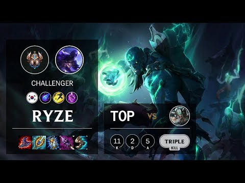 Ryze Top vs Tryndamere - KR Challenger Patch 10.10