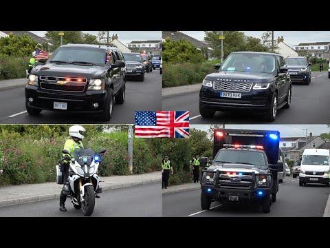 G7 Summit - Joe Biden Motorcade & Other World Leaders Moving In Convoy To Meet The Queen in Cornwall