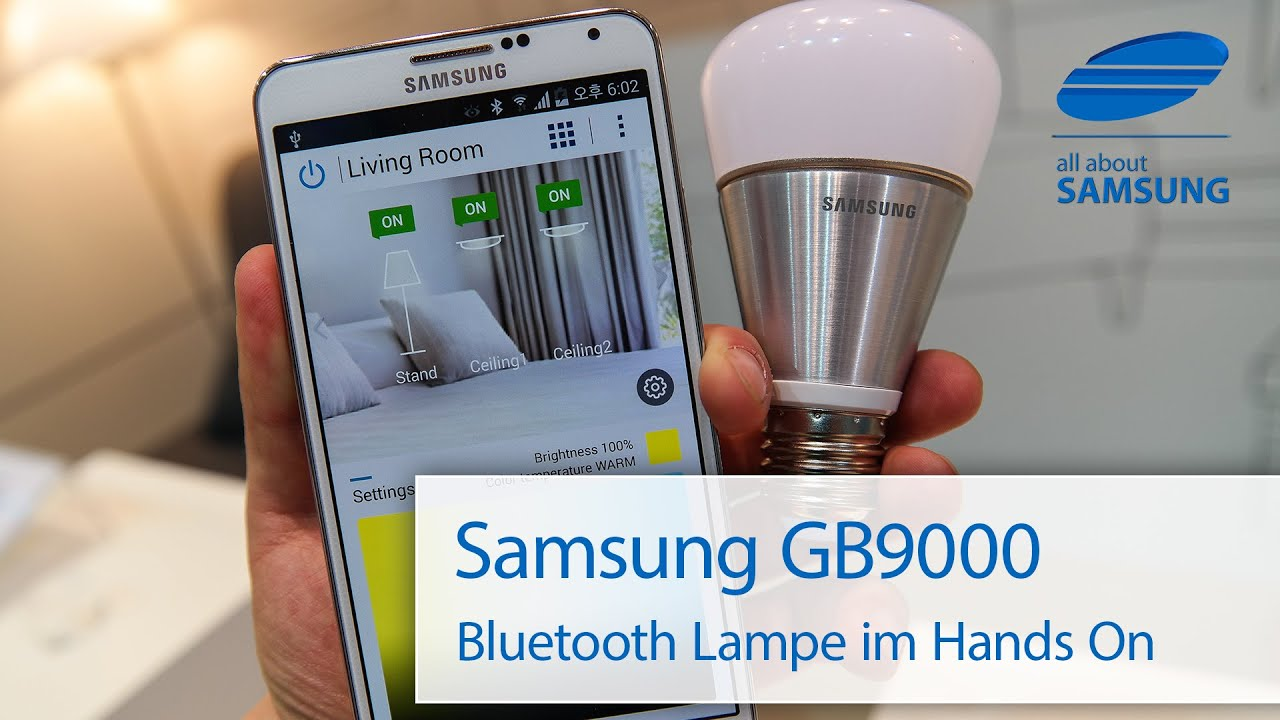 Samsung smart led gb9000 bluetooth lampe youtube samsung smart led gb9000 bluetooth lampe parisarafo Images