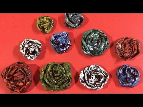 DlY: Cloth and Cement Rose Flower/Best out of Waste /Hindi tutorial