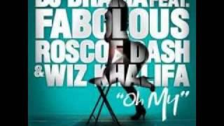 DJ Drama Ft. Wiz Khalifa, Fabolous, Roscoe Dash -- Oh My + lyrics Mp3
