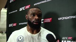 UFC 183: Tyron Woodley Backstage Interview