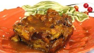 Pumpkin Bread Pudding With Caramel Sauce -- Lynn's Recipes