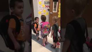Kindergarten Kids Daily Greeting before class Gives Hope! Teacher Ashley Taylor is Amazing