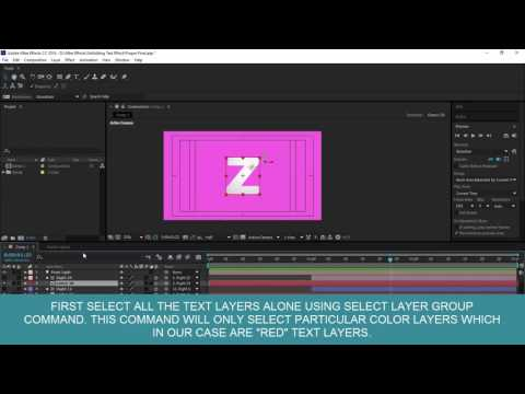 After Effects Tutorial | How to Replace Source Text of Multiple Text Layers