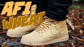 "Nike Air Force 1 High ""Wheat"" ""Flax"" w/ On Foot"