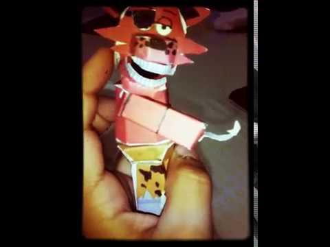 Foxy papercraft