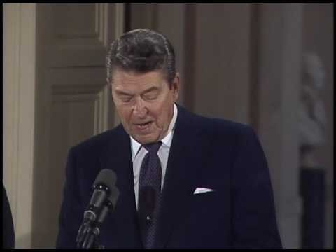 President Reagan and Mikhail Gorbachev's Remarks and Signing of the INF Treaty on December 8, 1987