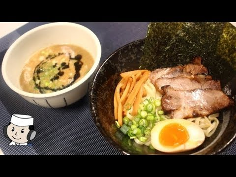 濃厚豚骨つけ麺♪ Tsukemen with Thick Tonkotsu Soup and Ma-yu♪