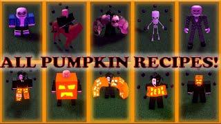 All the Pumpkin recipes in Wacky Wizards (NEW INGREIDENT!)