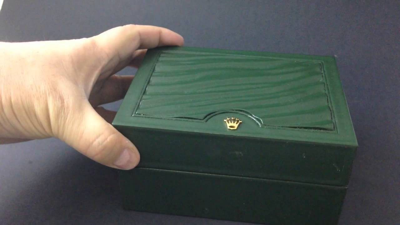 & LUXURY WRIST WATCH BOXES - The Rolex New Green Box 30.00.01 - YouTube Aboutintivar.Com