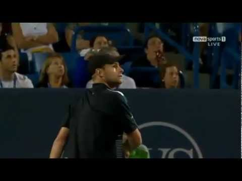 Funny Tennis  Andy Roddick arguing with the umpire over a penalty point