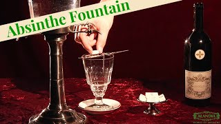 Absinthe Ritual using an Absinthe Fountain