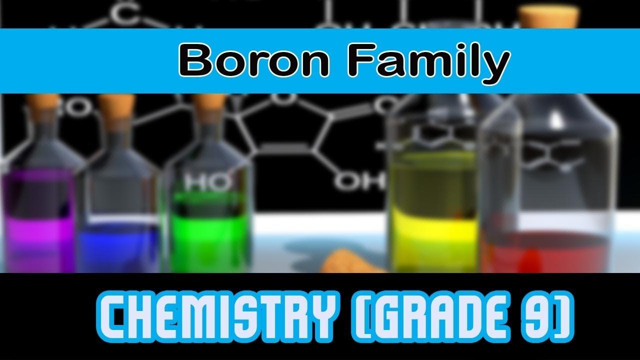 Boron Family Representative Elements Group 13 Of Modern Periodic