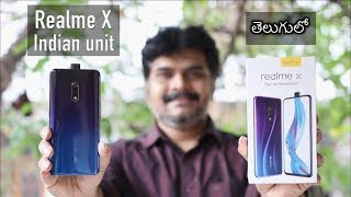 Realme X Indian Unit Unboxing & impressions ll in Telugu ll