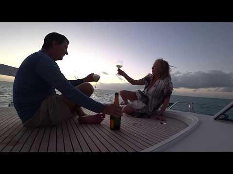 Cruising the lower Exuma Bahamas on a Lagoon Powercat