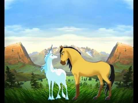 Spirit loves Amalthea the Unicorn (fanmade) .wmv