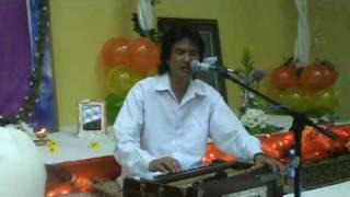 Sri Ajnish sings Humko Tumse Pyar Kitna at Port of Spain Sai Center
