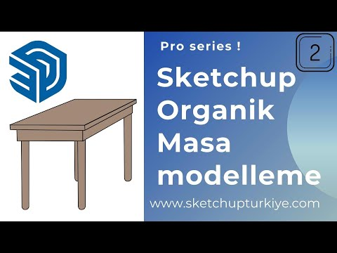 Sketchup Organik Masa Modelleme 01