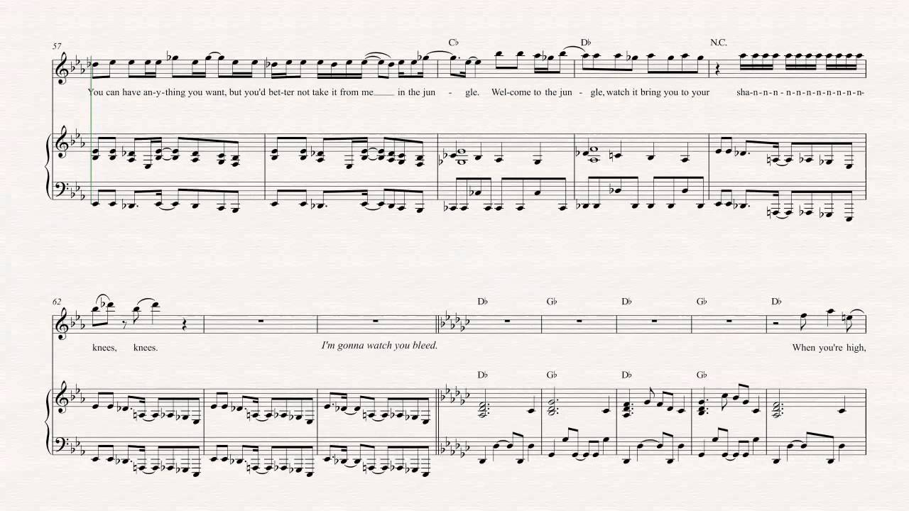 Flute welcome to the jungle guns n roses sheet music flute welcome to the jungle guns n roses sheet music chords vocals hexwebz Choice Image
