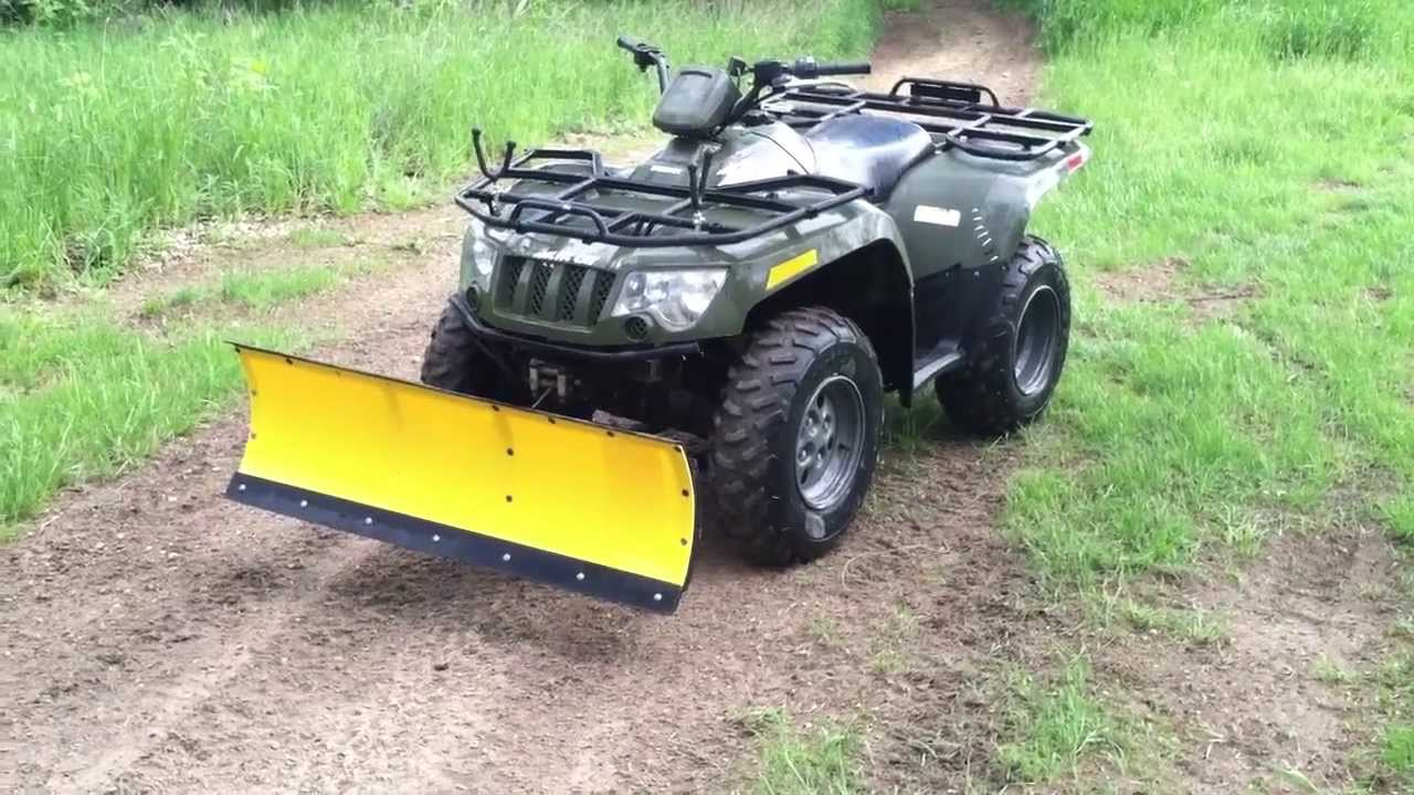 2006 Artic Cat 400 4x4 With Winch And Plow Youtube