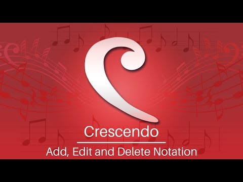 Crescendo Music Notation Tutorial | Add, Edit, and Delete Notations