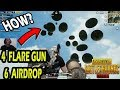 OMG 6 FLARE GUN AIR DROPS AT ONE PLACE HOW  SUPER AND IMPOSSIBLE CHICKEN DINNER 😍 MUST WATCH