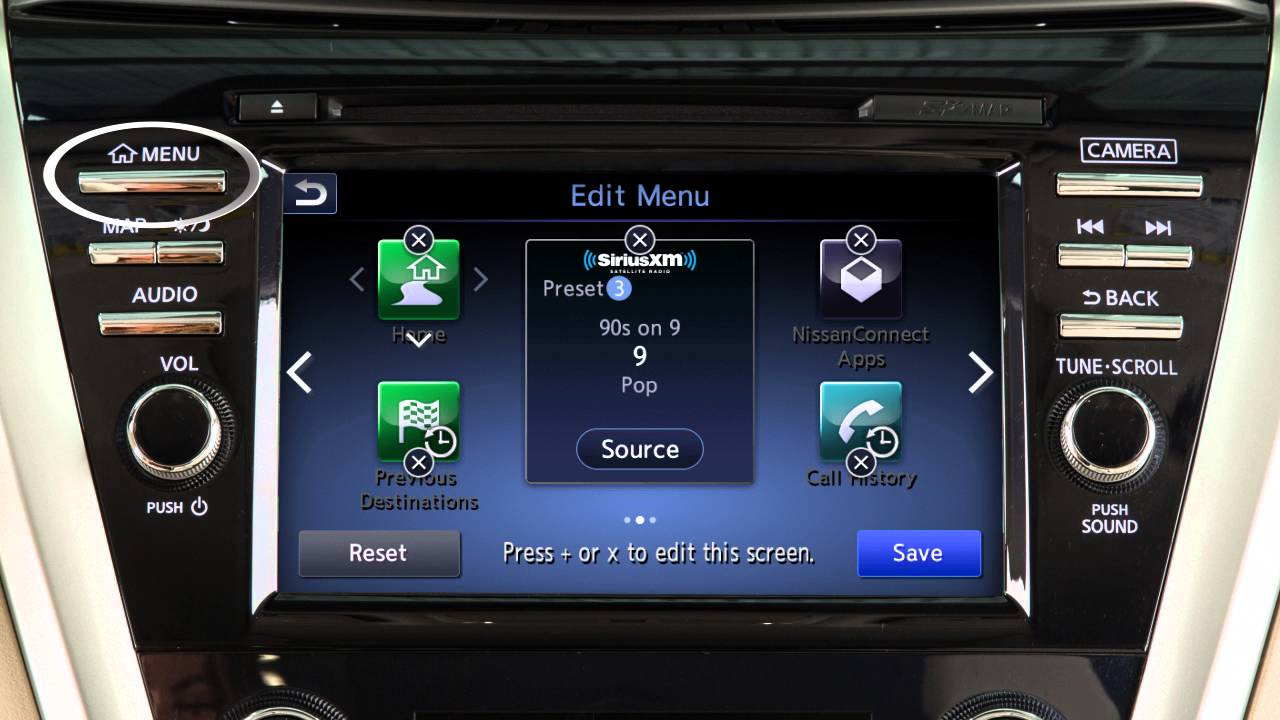 Nissan Maxima: Control panel buttons ó color screen with Navigation System (if so equipped)