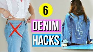 6 DIY Denim Hacks EVERY Girl Must Know for Fall!