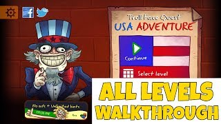 Troll Face Quest USA Adventure Level 1-17 Walkthrough | All Levels Guide