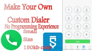 Sketchware Tutorials|#5|How to make a (very simple)dialer app in sketchware(Android) tutorial