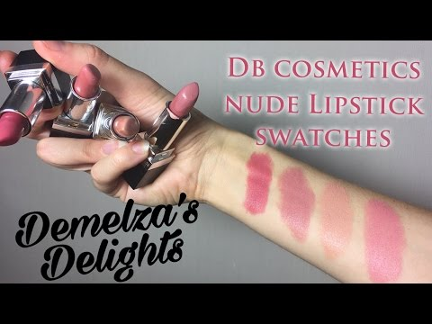 DB Lipstick Swatches & Try-on (vegan & cruelty free) from YouTube · Duration:  6 minutes 33 seconds