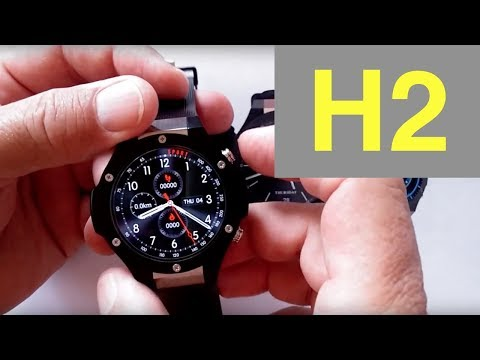 Microwear H2 Best Battery Life Android Smartwatch: Unboxing & 1st Look