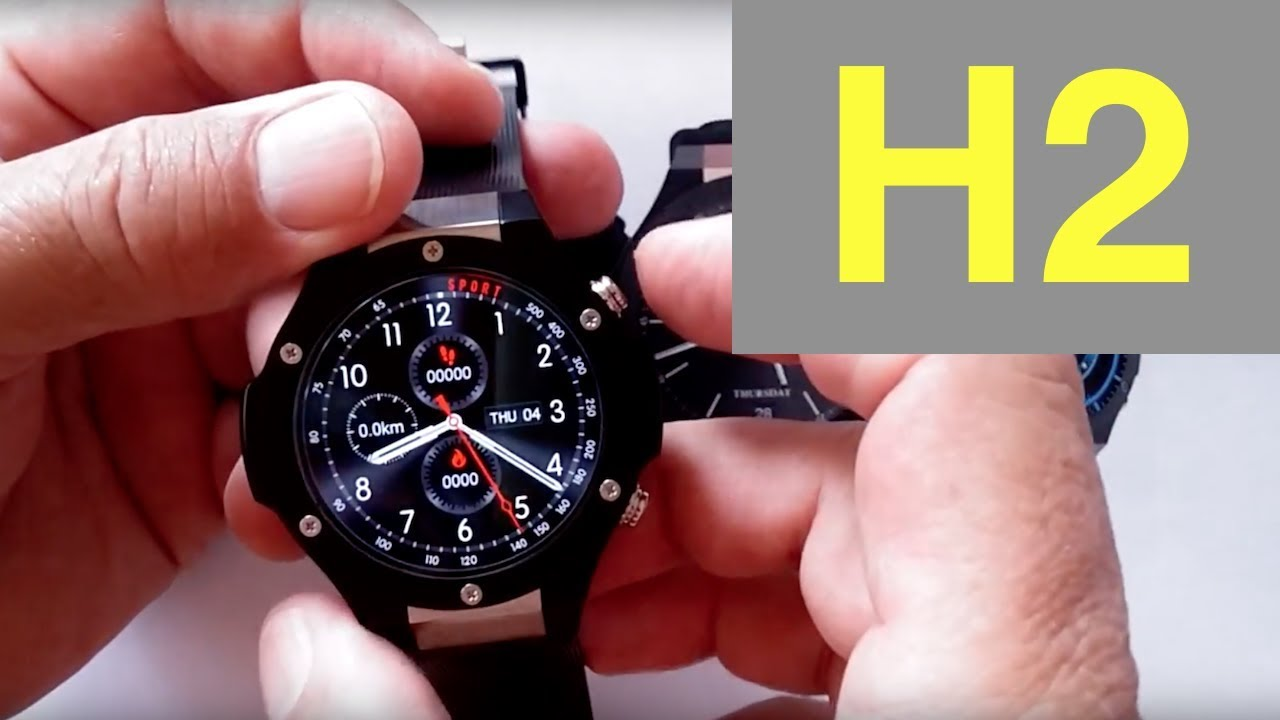 b509c9f94 Microwear H2 Best Battery Life Android Smartwatch  Unboxing   1st Look