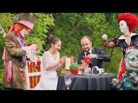 Свадьба в стиле Алиса в стране чудес. Слайд-шоу.