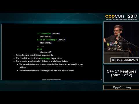 """CppCon 2017: Bryce Adelstein Lelbach """"C++17 Features (part 1 of 2)"""""""