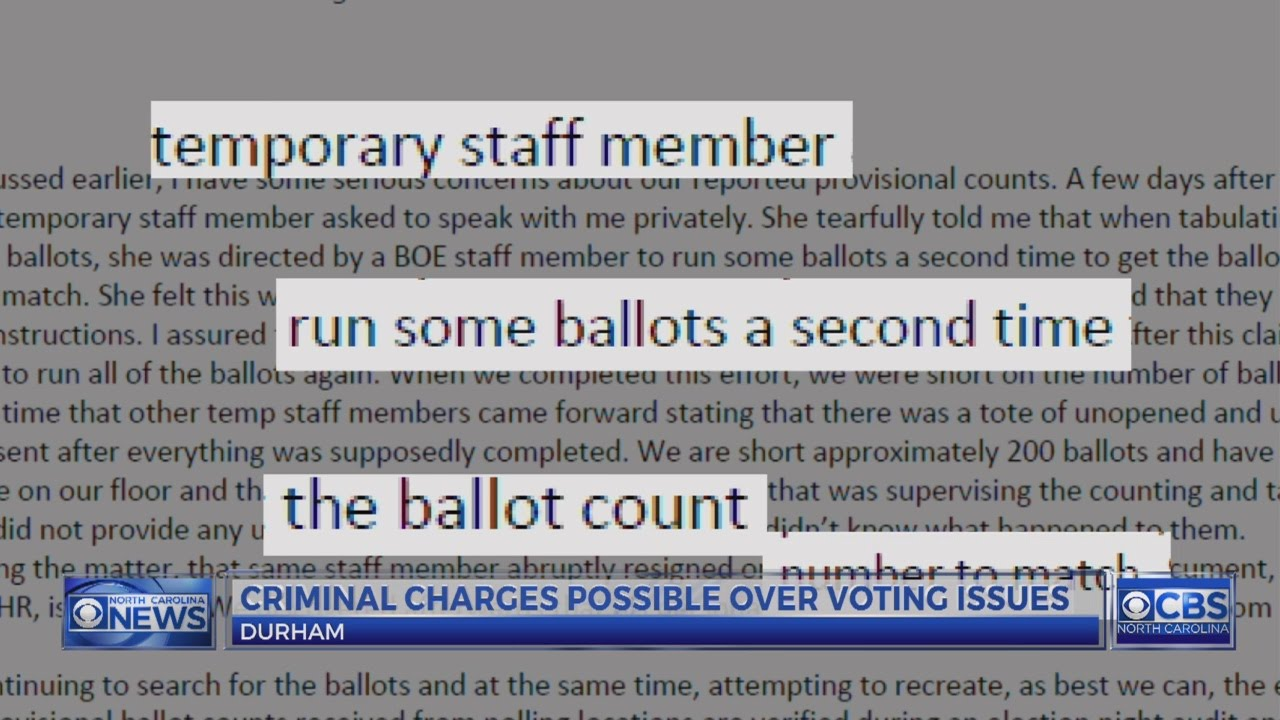 Here are the early election results for the Durham county ...