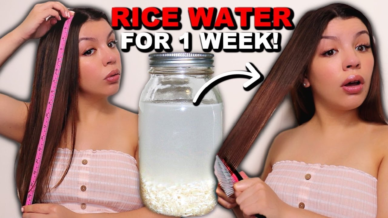 7 DAYS OF RICE WATER FOR HAIR GROWTH | BEFORE AND AFTER RESULTS