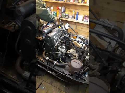 Снегоход Буран с двигателем ваз 2109.