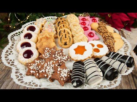 1 Teig 10 Plätzchen / Bunter Plätzchenteller / Weihnachtsplätzchen backen / Plätzchen Rezepte
