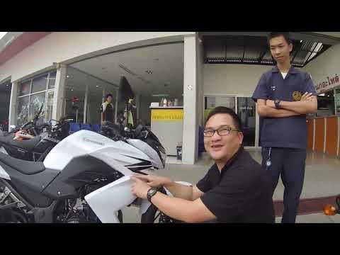 2013-02-13 Duang and His Kawasaki Z250 in Chiang Mai