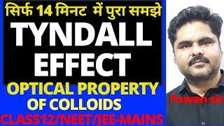 TYNDALL EFFECT|OPTICAL PROPERTY OF COLLOIDS|SURFACE CHEMISTRY|CLASS 12|NCERT-02|NEET|JEE-MAINS