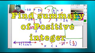 Dear Students Ep. 21 Mathematics: Inequality: Find summary of Positive integer