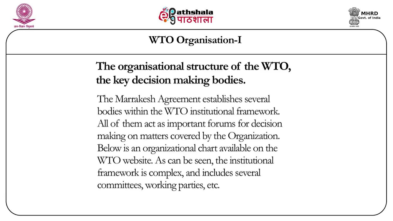 The World Trade Organization 1 Law Youtube