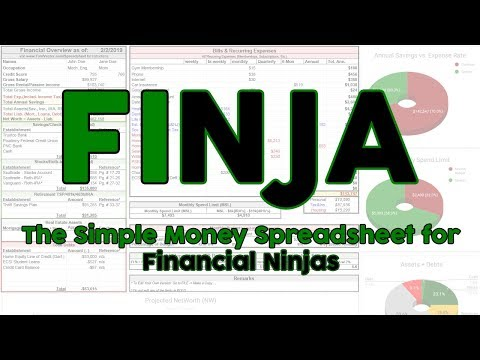FINJA: The Simple Money Spreadsheet for Financial Ninjas