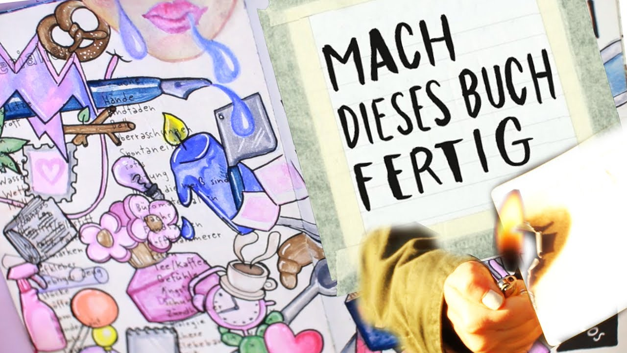 wreck this journal mach dieses buch fertig malen verbrennen foxy draws youtube. Black Bedroom Furniture Sets. Home Design Ideas