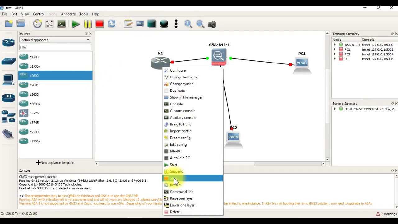 How to add Cisco ASA 8 4 Firewall in GNS3 2 1 8