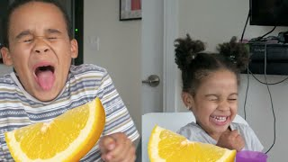 KIDS EATING LEMONS!!